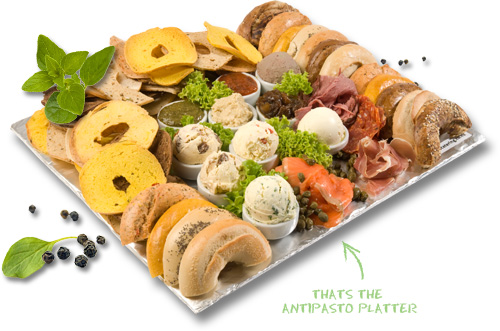 Wholly Bagels - Catering - Antipasto Platter